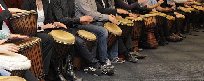 Erlebnisworkshop Trommeln für Seminaranbieter