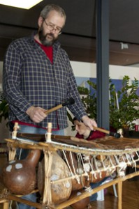 Balafonspieler beim Balafon Workshop, , Balafon- Kurs in Innsbruck bei www.klang-bild.co.at